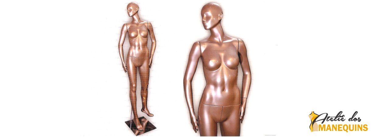 Manequim restaurado pintura customizada (Cromado Bronze)